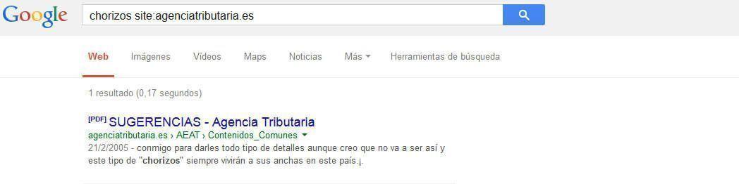 Caso site:google.com, wikipedia, agencia tributaria